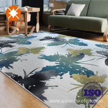 Printed pvc backside floral floor carpet